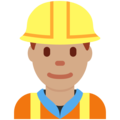 Man Construction Worker: Medium Skin Tone on Twitter Twemoji 13.0.1