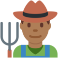 Man Farmer: Medium-Dark Skin Tone on Twitter Twemoji 13.0.1