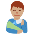 Man Feeding Baby: Medium Skin Tone on Twitter Twemoji 13.0.1