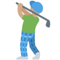 Man Golfing: Medium Skin Tone on Twitter Twemoji 13.0.1