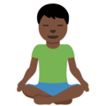 Man in Lotus Position: Dark Skin Tone on Twitter Twemoji 13.0.1