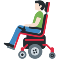 Man in Motorized Wheelchair: Light Skin Tone on Twitter Twemoji 13.0.1