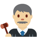 Man Judge: Medium-Light Skin Tone on Twitter Twemoji 13.0.1