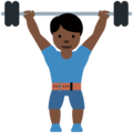 Man Lifting Weights: Dark Skin Tone on Twitter Twemoji 13.0.1