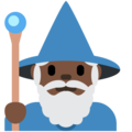 Man Mage: Dark Skin Tone on Twitter Twemoji 13.0.1
