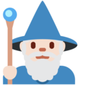 Man Mage: Light Skin Tone on Twitter Twemoji 13.0.1