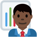 Man Office Worker: Dark Skin Tone on Twitter Twemoji 13.0.1