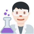 Man Scientist: Light Skin Tone on Twitter Twemoji 13.0.1