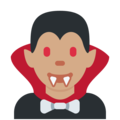 Man Vampire: Medium Skin Tone on Twitter Twemoji 13.0.1