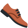 Man's Shoe on Twitter Twemoji 13.0.1