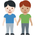 Men Holding Hands: Light Skin Tone, Medium Skin Tone on Twitter Twemoji 13.0.1