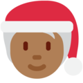 Mx Claus: Medium-Dark Skin Tone on Twitter Twemoji 13.0.1