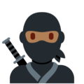 Ninja: Medium-Dark Skin Tone on Twitter Twemoji 13.0.1