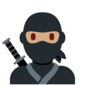 Ninja: Medium Skin Tone on Twitter Twemoji 13.0.1