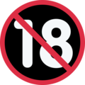 No One Under Eighteen on Twitter Twemoji 13.0.1