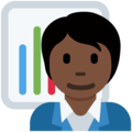 Office Worker: Dark Skin Tone on Twitter Twemoji 13.0.1