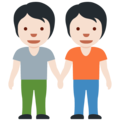 People Holding Hands: Light Skin Tone on Twitter Twemoji 13.0.1
