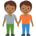 People Holding Hands: Medium-Dark Skin Tone on Twitter Twemoji 13.0.1
