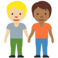 People Holding Hands: Medium-Light Skin Tone, Medium-Dark Skin Tone on Twitter Twemoji 13.0.1