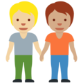 People Holding Hands: Medium-Light Skin Tone, Medium Skin Tone on Twitter Twemoji 13.0.1