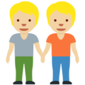 People Holding Hands: Medium-Light Skin Tone on Twitter Twemoji 13.0.1
