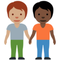 People Holding Hands: Medium Skin Tone, Dark Skin Tone on Twitter Twemoji 13.0.1