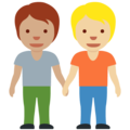People Holding Hands: Medium Skin Tone, Medium-Light Skin Tone on Twitter Twemoji 13.0.1