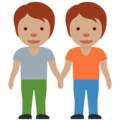 People Holding Hands: Medium Skin Tone on Twitter Twemoji 13.0.1