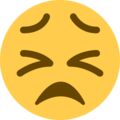 Persevering Face on Twitter Twemoji 13.0.1