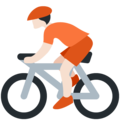 Person Biking: Light Skin Tone on Twitter Twemoji 13.0.1