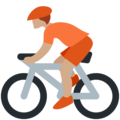Person Biking: Medium Skin Tone on Twitter Twemoji 13.0.1