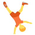 Person Cartwheeling on Twitter Twemoji 13.0.1