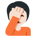 Person Facepalming: Light Skin Tone on Twitter Twemoji 13.0.1