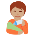 Person Feeding Baby: Medium Skin Tone on Twitter Twemoji 13.0.1