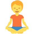 Person in Lotus Position on Twitter Twemoji 13.0.1