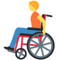 Person in Manual Wheelchair on Twitter Twemoji 13.0.1
