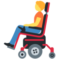 Person in Motorized Wheelchair on Twitter Twemoji 13.0.1