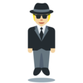 Person in Suit Levitating: Medium-Light Skin Tone on Twitter Twemoji 13.0.1