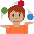 Person Juggling: Medium Skin Tone on Twitter Twemoji 13.0.1
