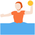 Person Playing Water Polo: Light Skin Tone on Twitter Twemoji 13.0.1
