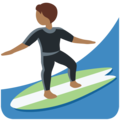 Person Surfing: Medium-Dark Skin Tone on Twitter Twemoji 13.0.1