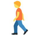 Person Walking on Twitter Twemoji 13.0.1