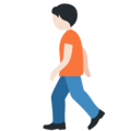 Person Walking: Light Skin Tone on Twitter Twemoji 13.0.1