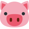 Pig Face on Twitter Twemoji 13.0.1