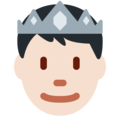 Prince: Light Skin Tone on Twitter Twemoji 13.0.1
