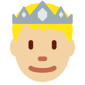 Prince: Medium-Light Skin Tone on Twitter Twemoji 13.0.1