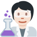 Scientist: Light Skin Tone on Twitter Twemoji 13.0.1