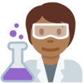 Scientist: Medium-Dark Skin Tone on Twitter Twemoji 13.0.1