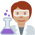 Scientist: Medium Skin Tone on Twitter Twemoji 13.0.1