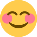 Smiling Face with Smiling Eyes on Twitter Twemoji 13.0.1